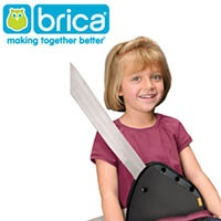 Girl Wearing Brica Seatbelt Adjuster
