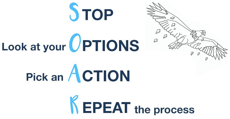 SOAR: Stop, look at your Options, pick an Action, Repeat the process