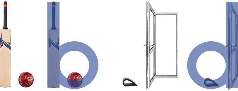 bat before ball, doorstop before door