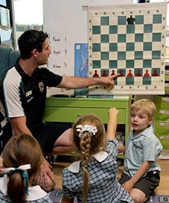 Primary chess class at Kings