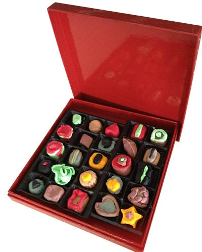 Box of play dough chocolates