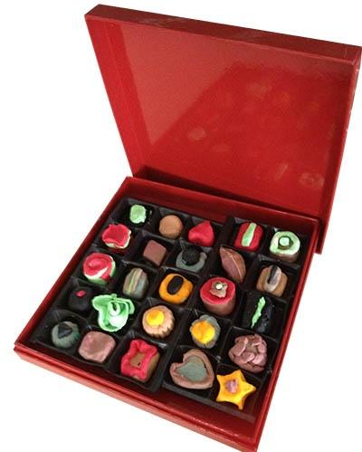 Box of play dough chocolates
