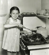 1940s girl cooking