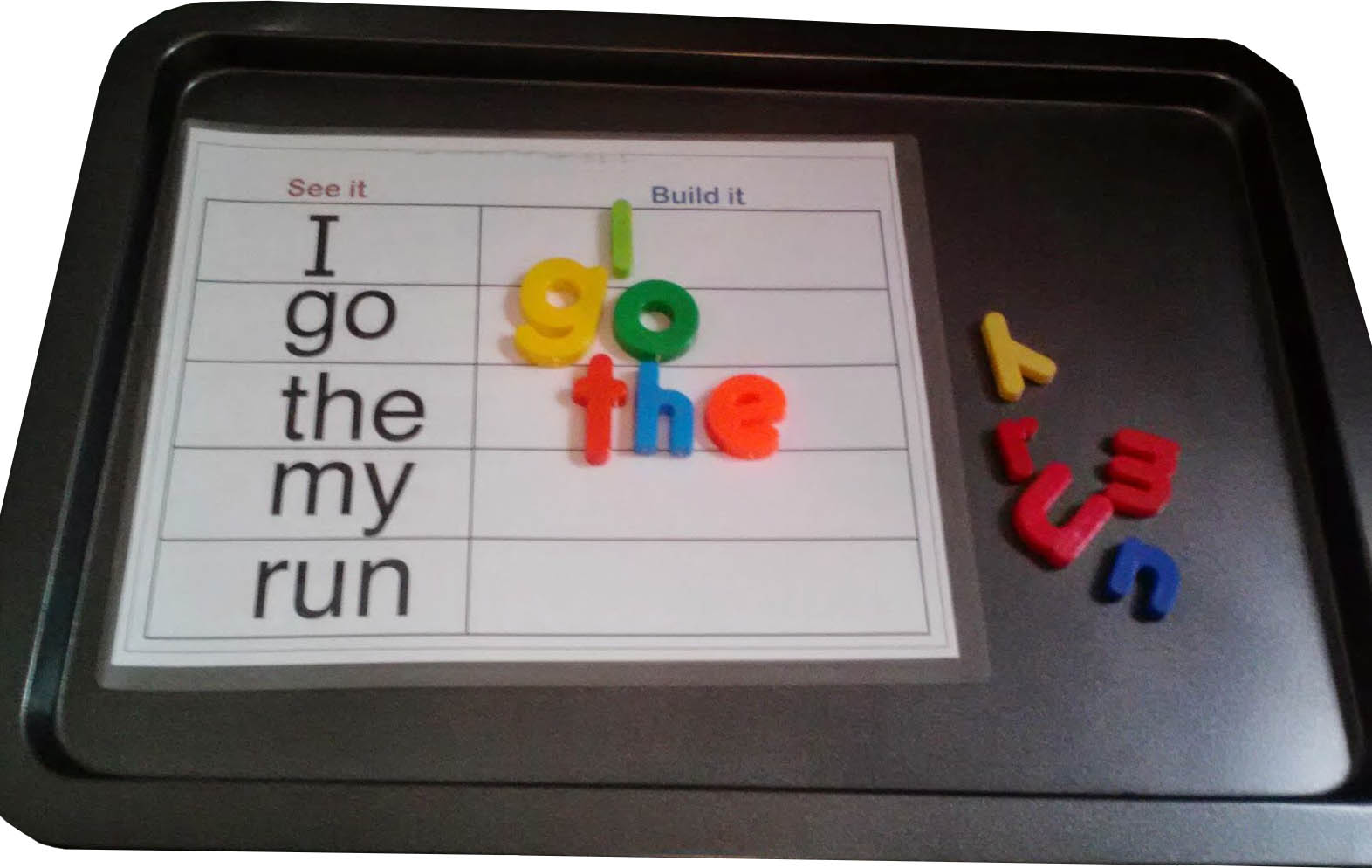 magnetic letter sight words