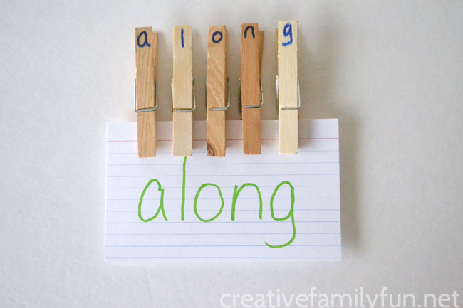 letter pegs